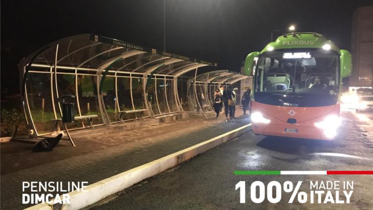 pensiline fermata autobus dimcar bando arredo urbano